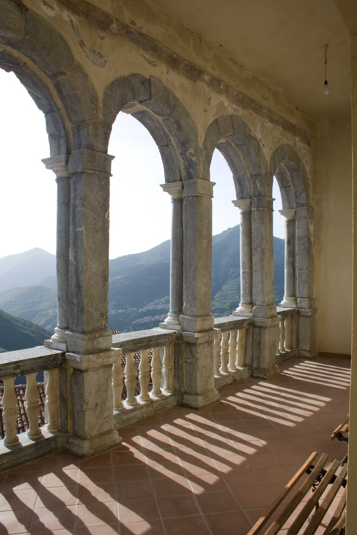 Aieta - Palazzo Rinascimentale, balconata